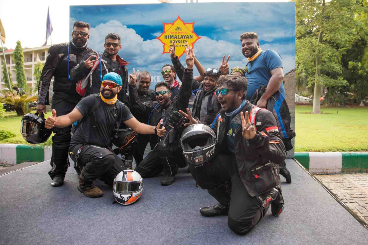 Royal Enfield Himalayan Odyssey group picture