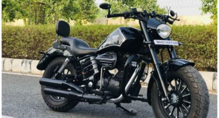 Royal enfield to bobber 5