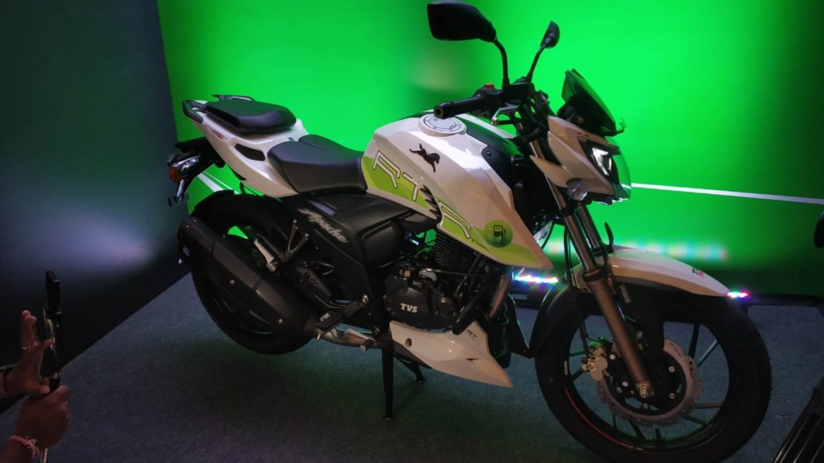 TVS launches the new Apache RTR 200 Fi E100 bike side