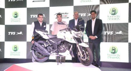 TVS launches the new Apache RTR 200 Fi E100 bike with Dignitaries