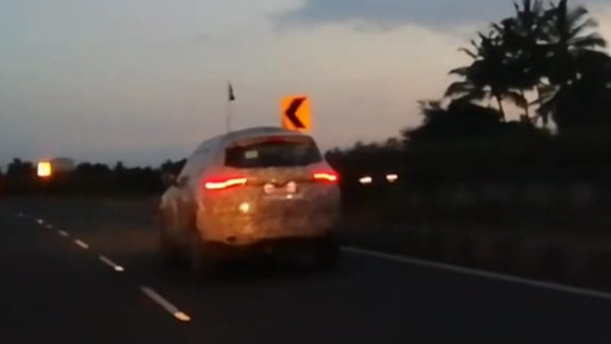 Tata Buzzard spied rear