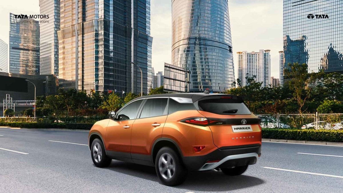 Tata Harrier dual tone orange