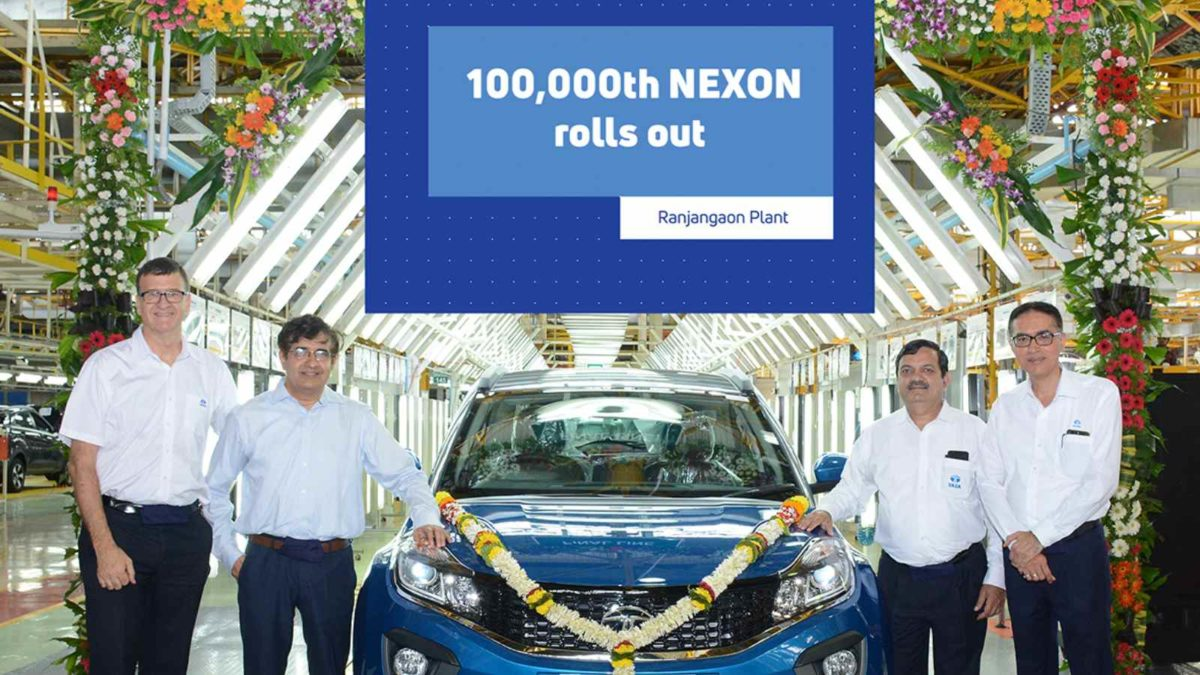 Tata Motors Rolls out 1,00,000th Nexon