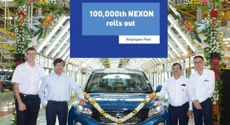 Tata Motors Rolls out 1,00,000th Nexon