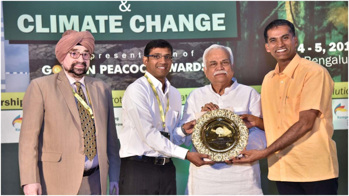 Toyota Kirloskar Motor Receiving the Golden Peacock Award 2019 for Energy Efficiency