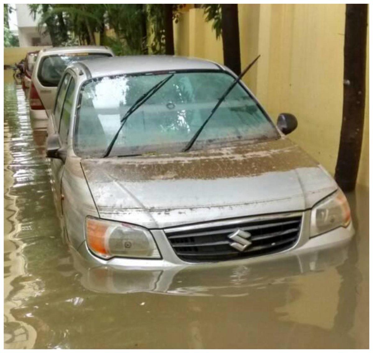 flooded maruti alto