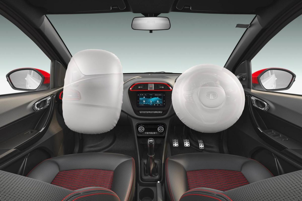 2019 Tata tigor jtp front dashboard with airbags new screen