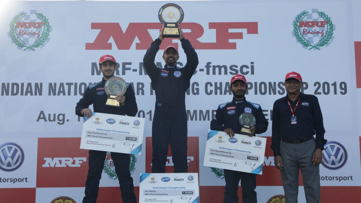 2019 Volkswagen Ameo Cup Round 3 podium holders