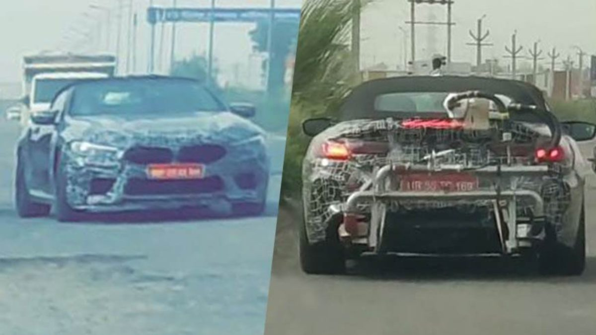 BMW M8 convertible spied in India