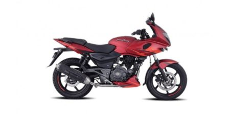 Bajaj Pulsar 220F volcanic Red side
