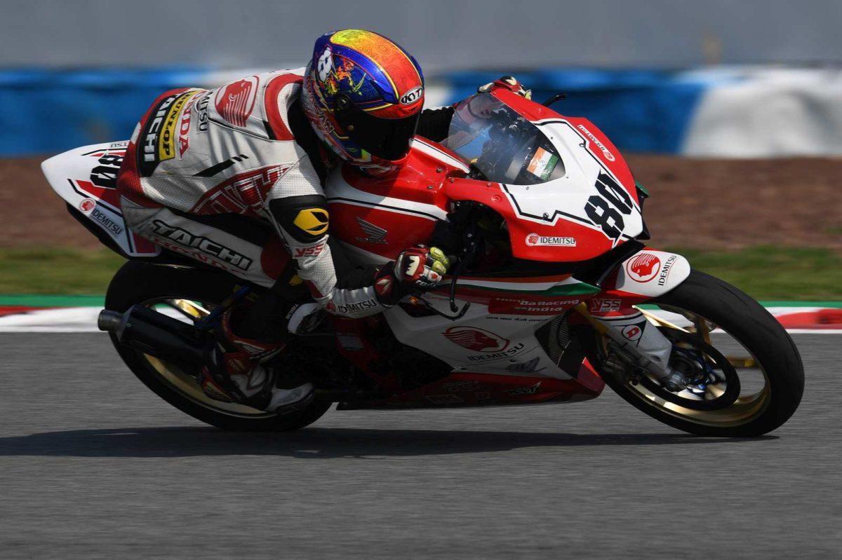 Honda rider Rajiv Sethu during practice at ARRC Rd 5 in China