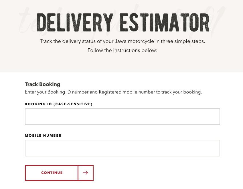 Jawa Delivery Estimator