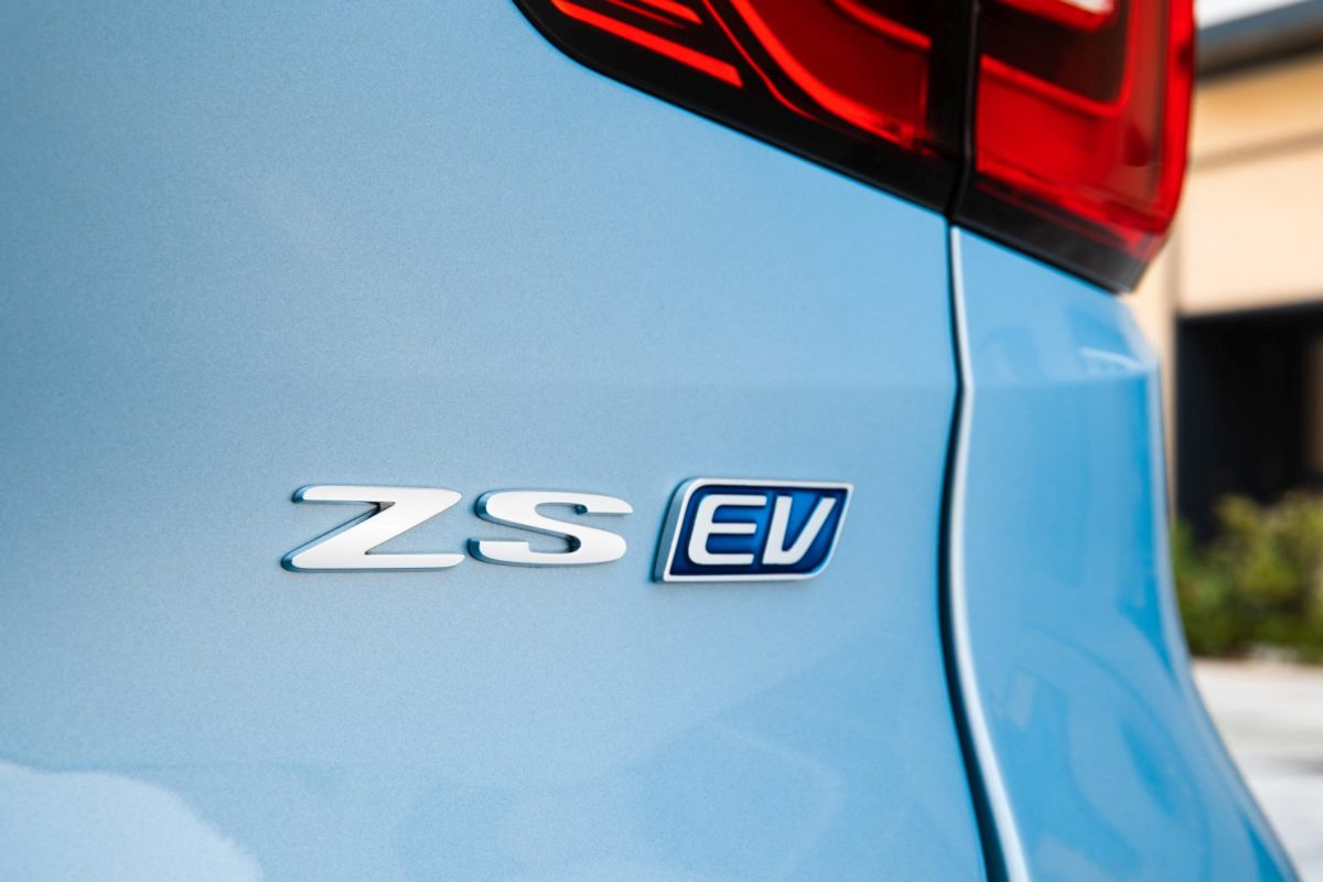 MG ZS EV Rear Badge