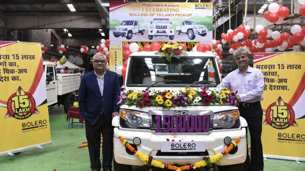 Mahindra Bolero Pick Up Truck crosses 15 Lakh units