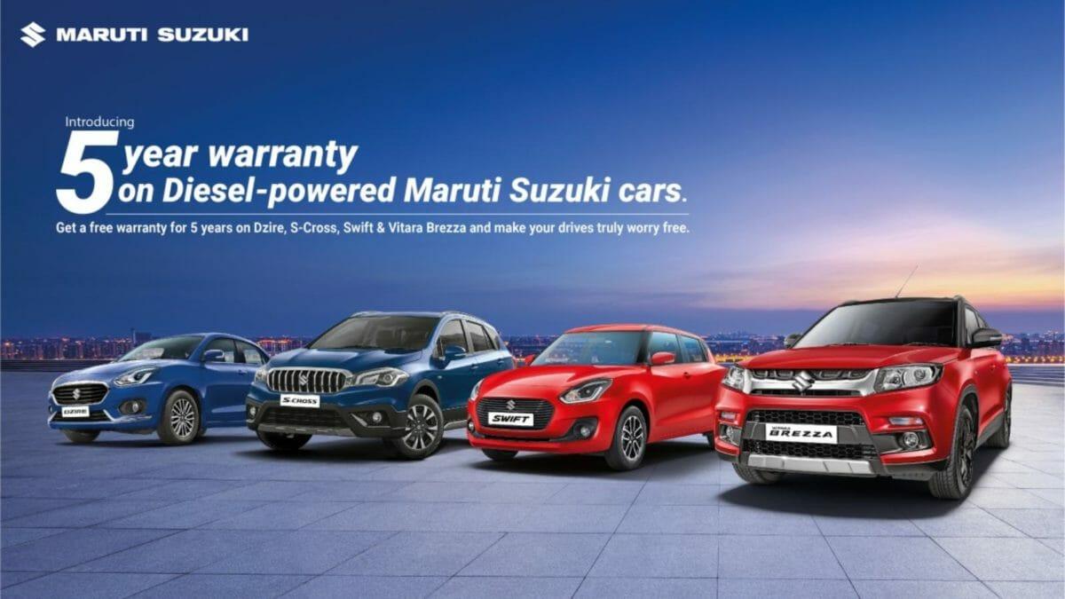 Maruti Suzuki 5 year warranty