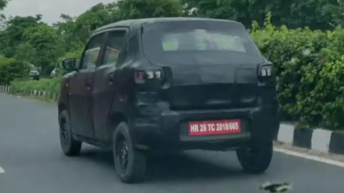 Maruti Suzuki S Presso Spied rear quarter