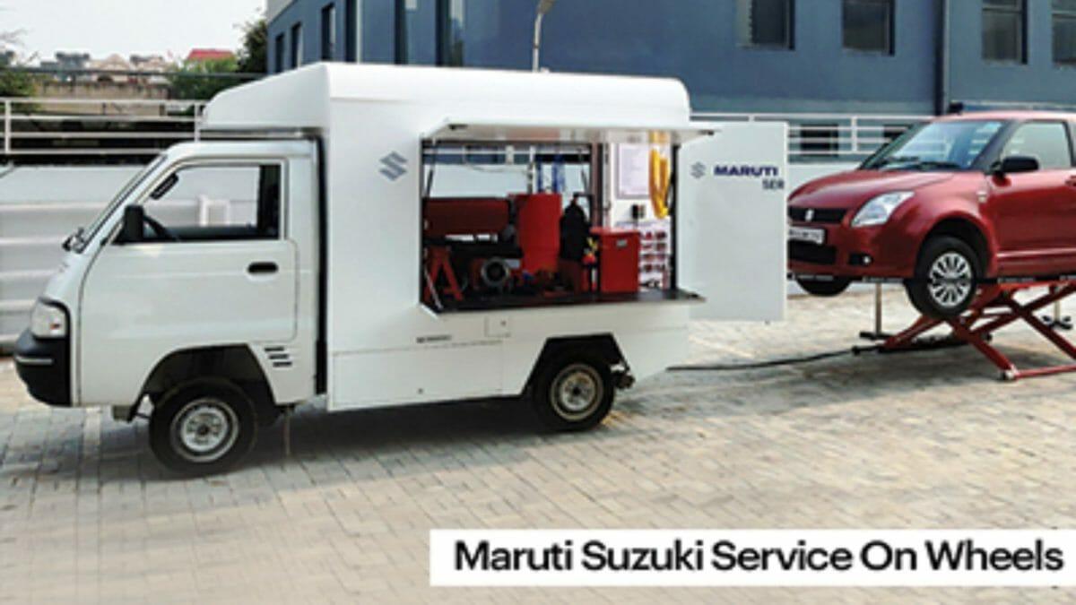 Maruti Suzuki Service on wheels featured