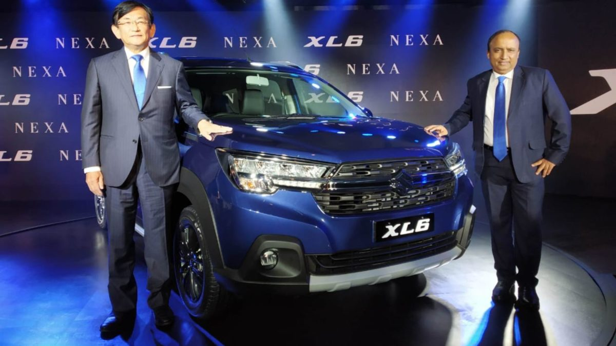 Maruti Suzuki XL6 launch event front quarter