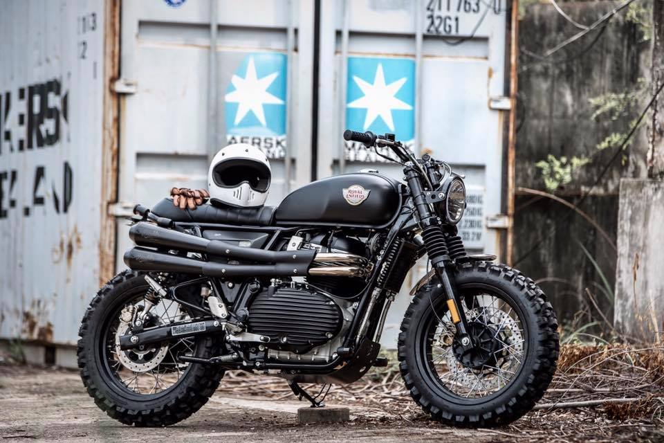 Modified Royal Enfield Interceptor 650 by K Speed front right