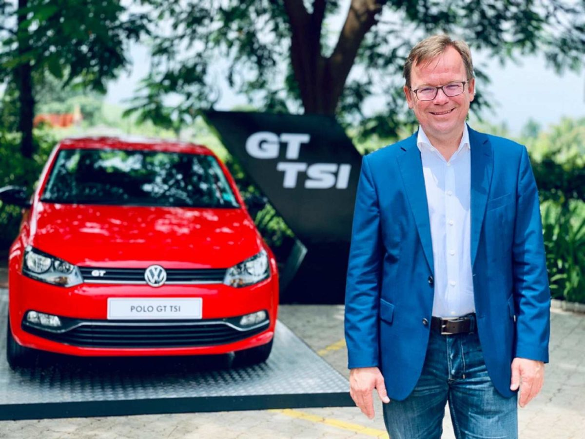 Mr. Steffen Knapp, Director, Volkswagen Passenger Cars at the 10Years of Polo event in Nashik