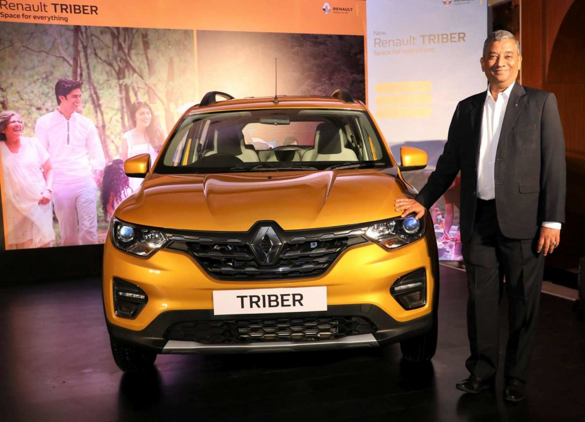 Mr. Venkatram Mamillapalle, Managing Director for Renault India Private Limited, and Head of Renault Operations in India, launches the Renault TRIBER at INR 4.95 lakhs