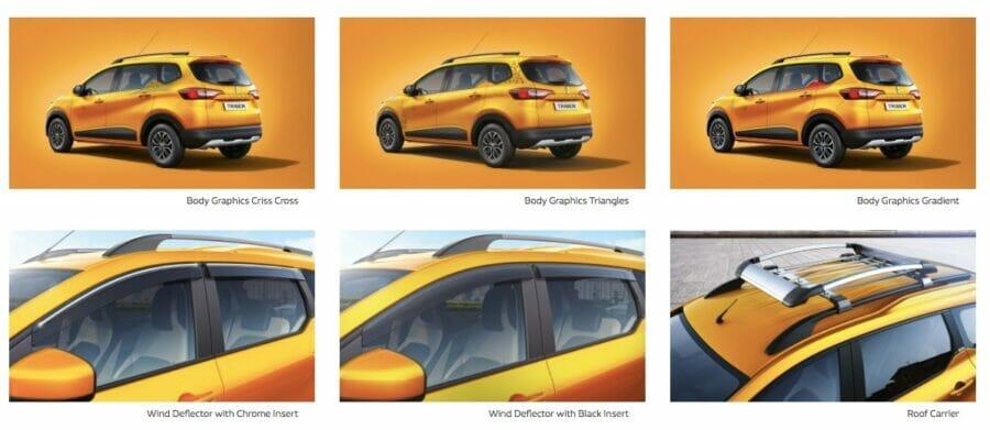 Renault Triber accessories exterior
