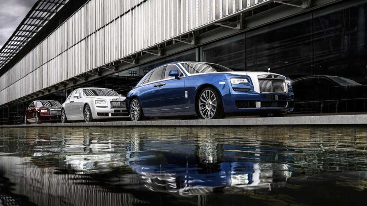 Rolls Royce Ghost Zenith Edition three cars in line