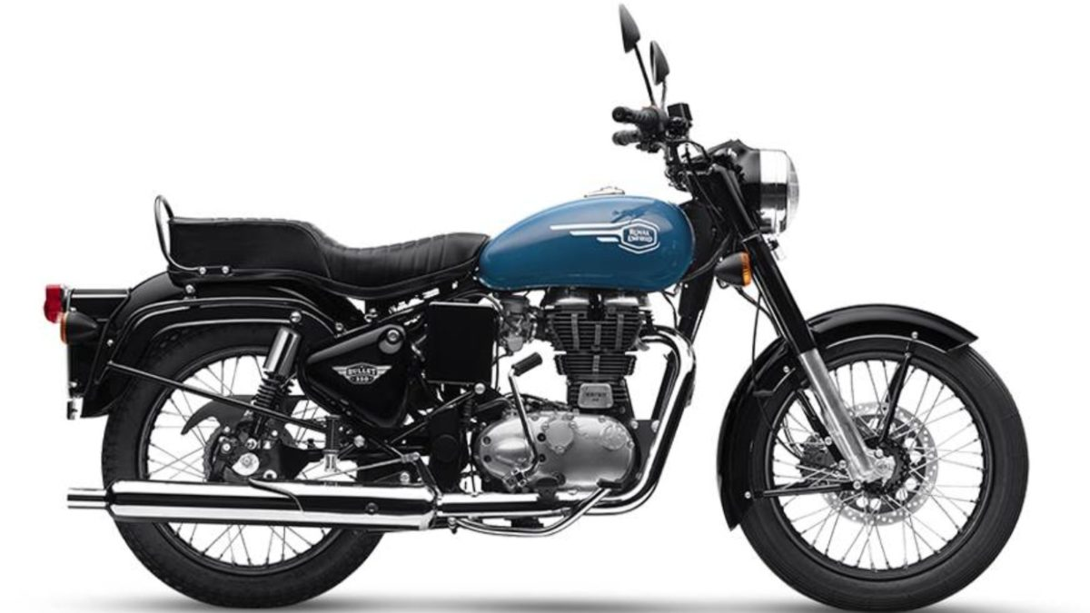 Royal Enfield Bullet 350 Side blue