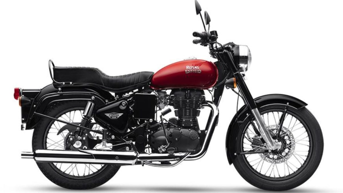 Royal Enfield Bullet 350 Side red