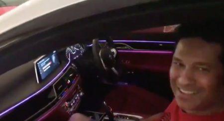 Sachin Tendulkar driverless BMW