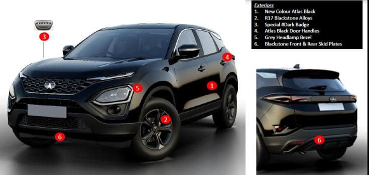 Tata Harrier Dark edition details
