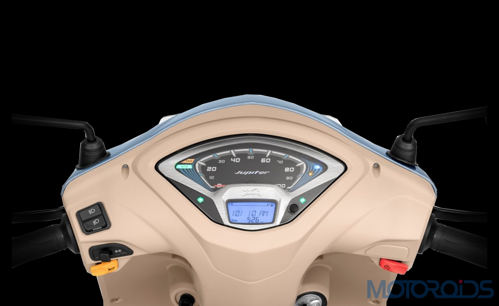 2019 TVS Jupiter Grande semi digital speedometer