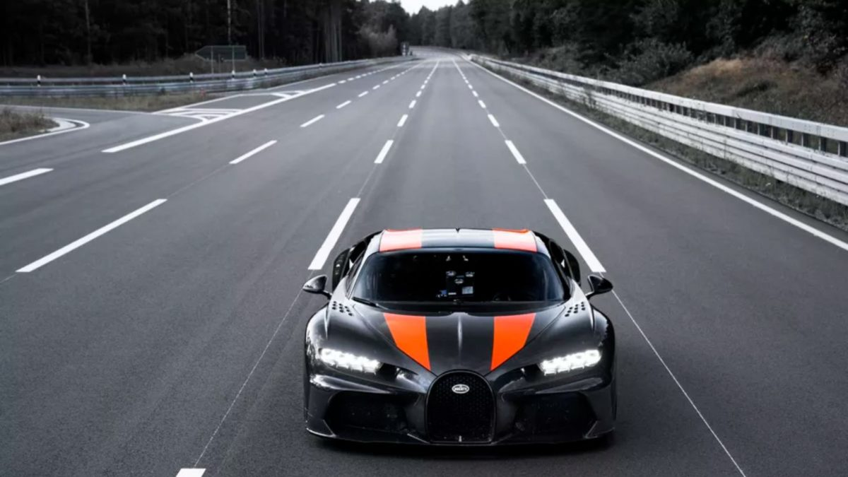 Bugatti Chiron crossed the 300 mph speed barrier