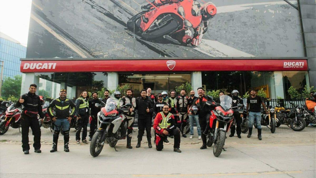 Ducati DRE Dream tour to Spiti showroom