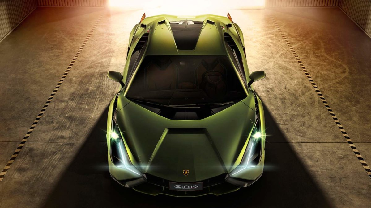 Lamborghini Sián top from front