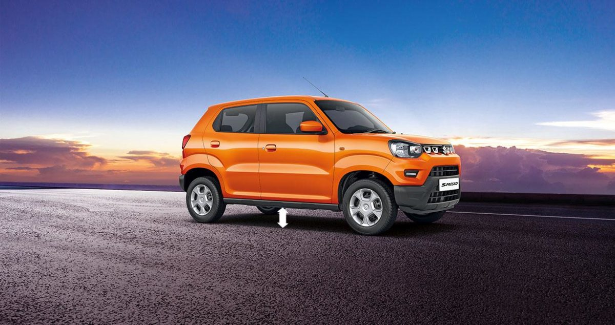 Maruti Suzkuki S Presso Ground Clearance