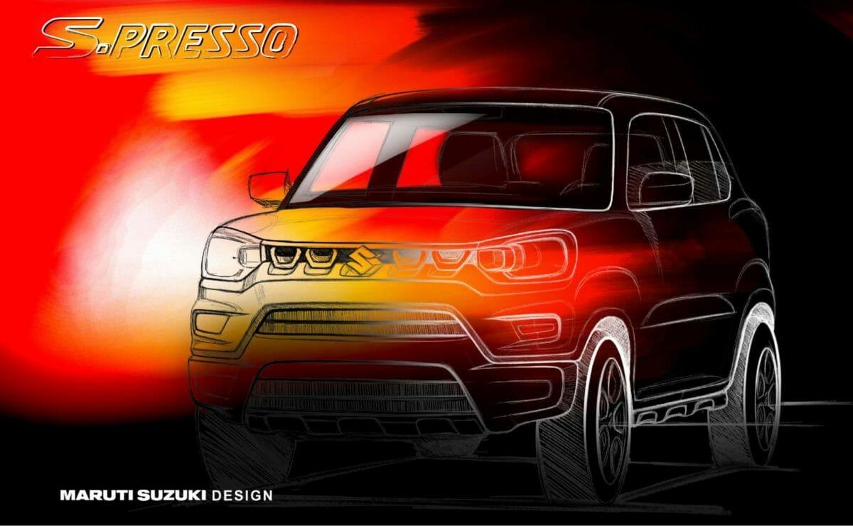 Maruti Suzuki S Presso official sketch