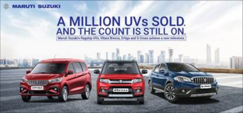 Maruti Suzuki Sells a million UVs