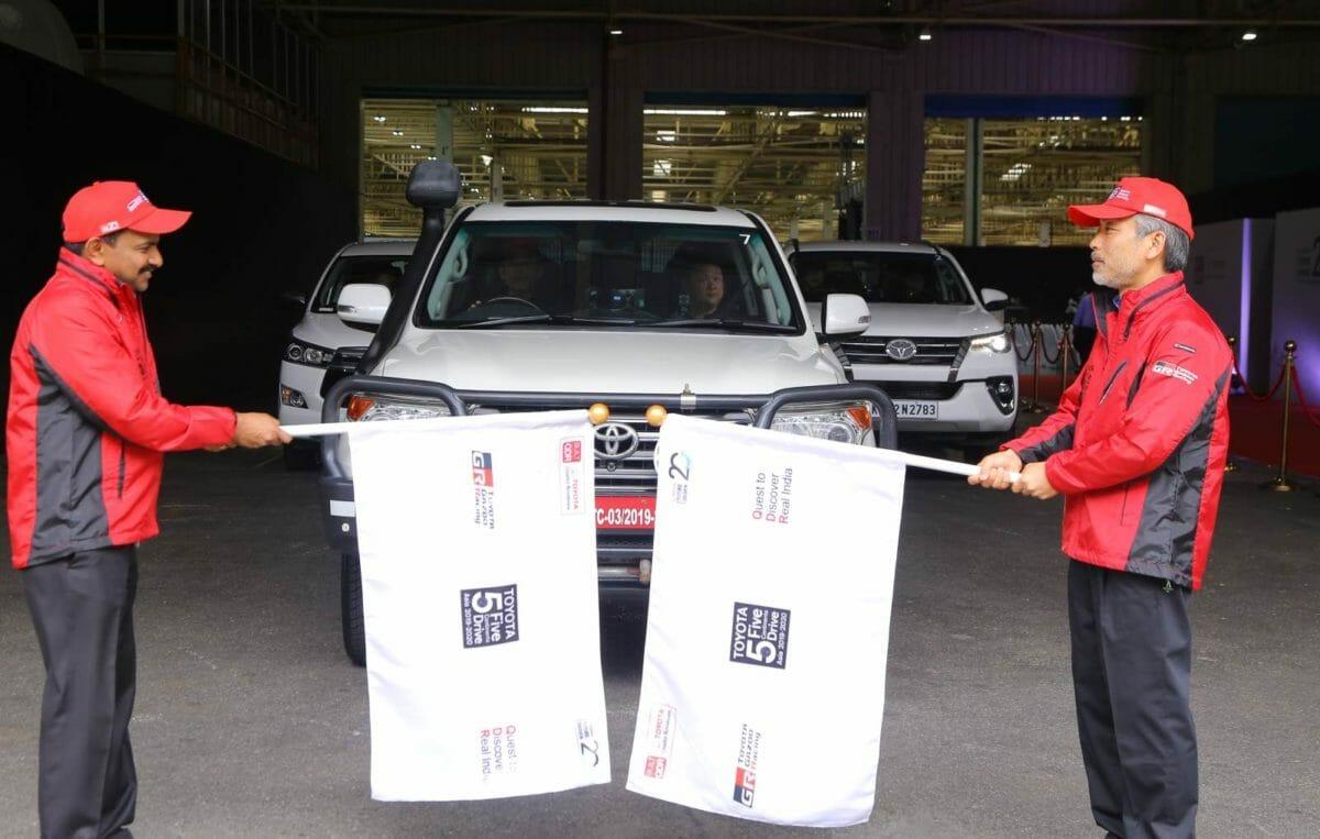 Mr. Masakazu Yoshimura & Mr. N. Raja flag off the Toyota 5 Continents Drive in India – 1