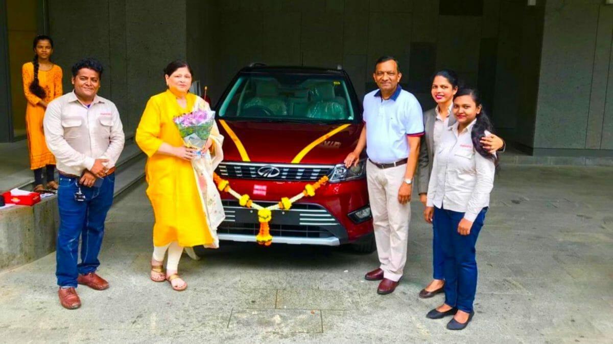 Pawan Goenka take delivery of his Mahindra XUV300