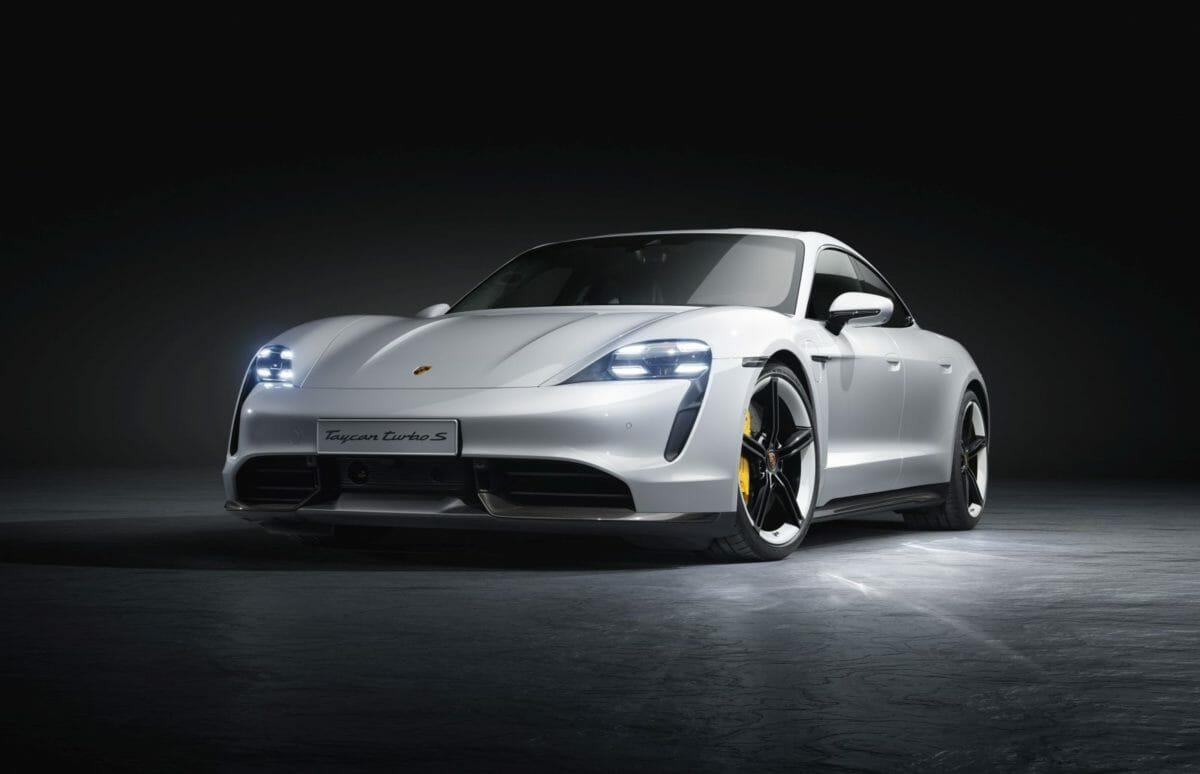 Porsche Taycan studio front