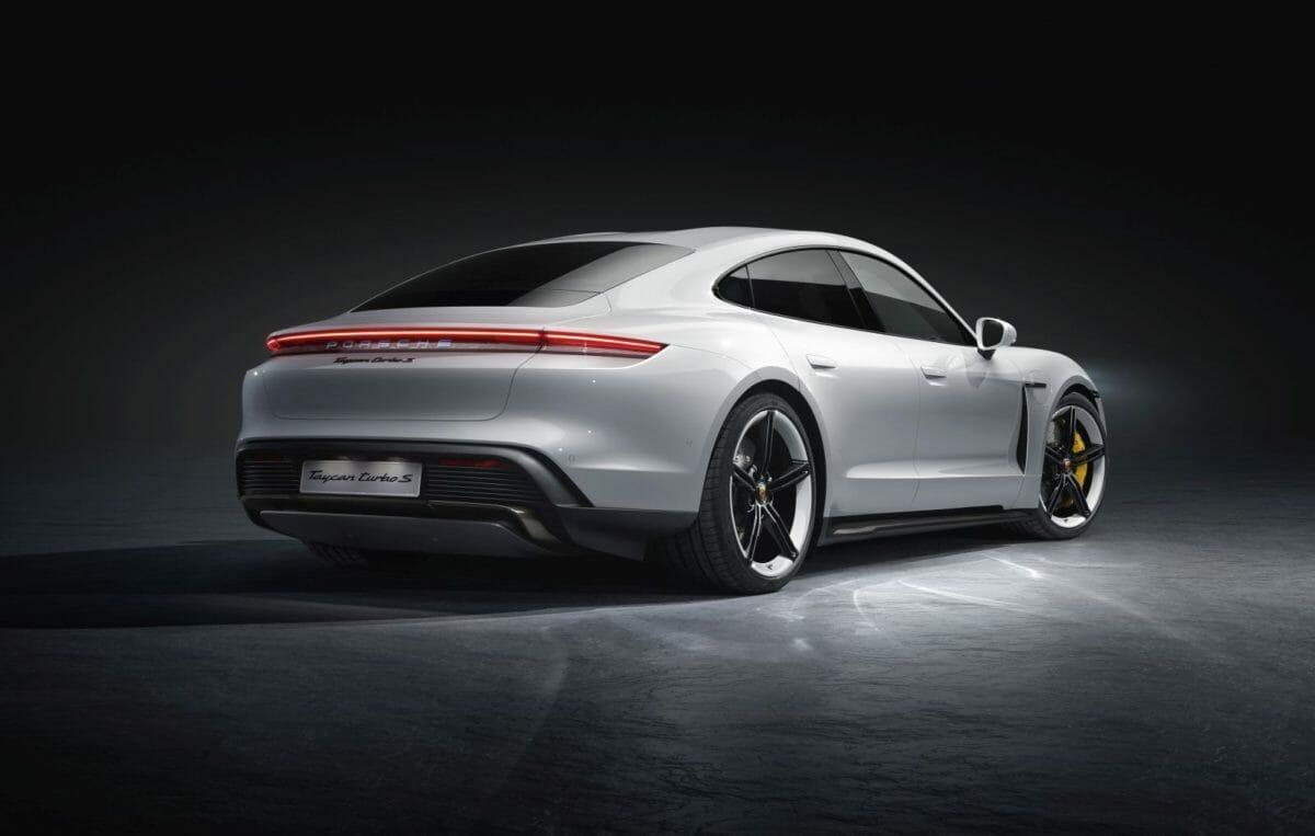 Porsche Taycan studio rear