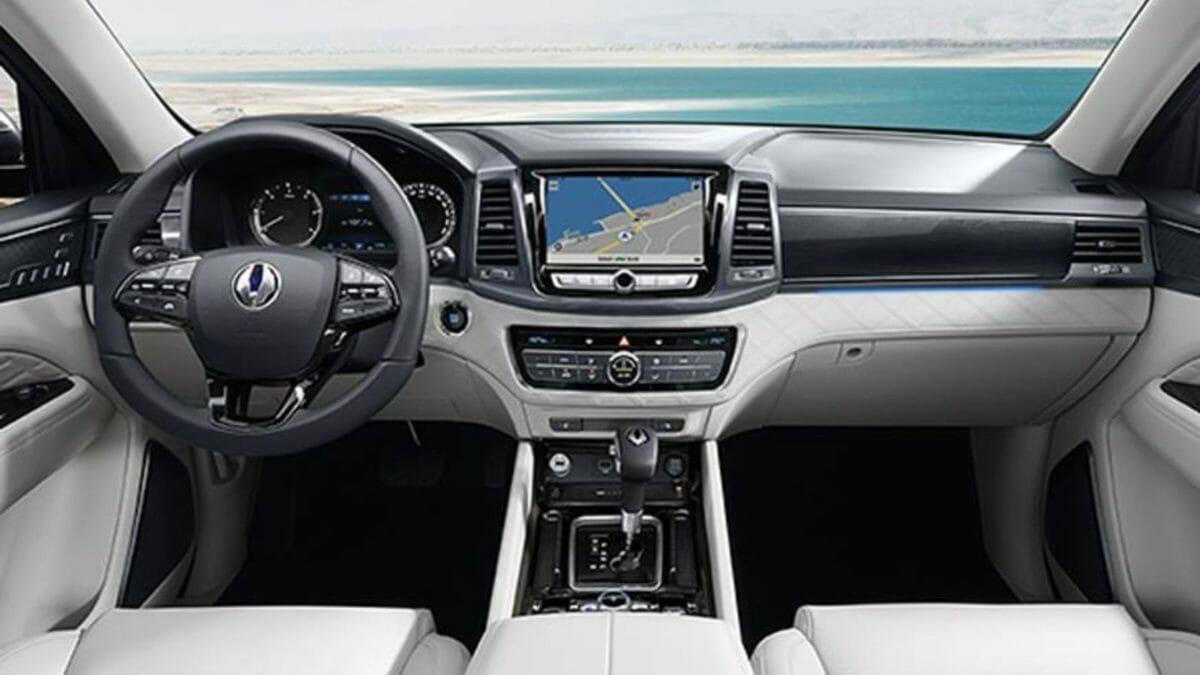 SsangYong Rexton G4 facelift interior
