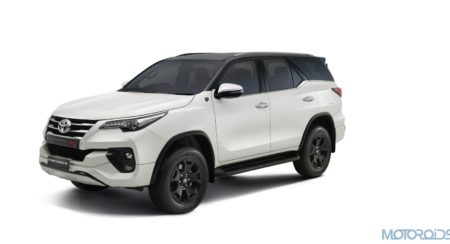 The New Toyota Fortuner TRD 'Celebratory Edition' with Pearl White with Attitude Black Dual Tone