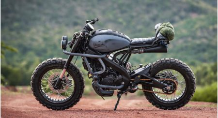 This Custom Yamaha XSR155 Is Called The Trail Breaker