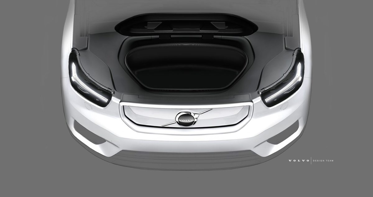 All electric Volvo XC40 front bay