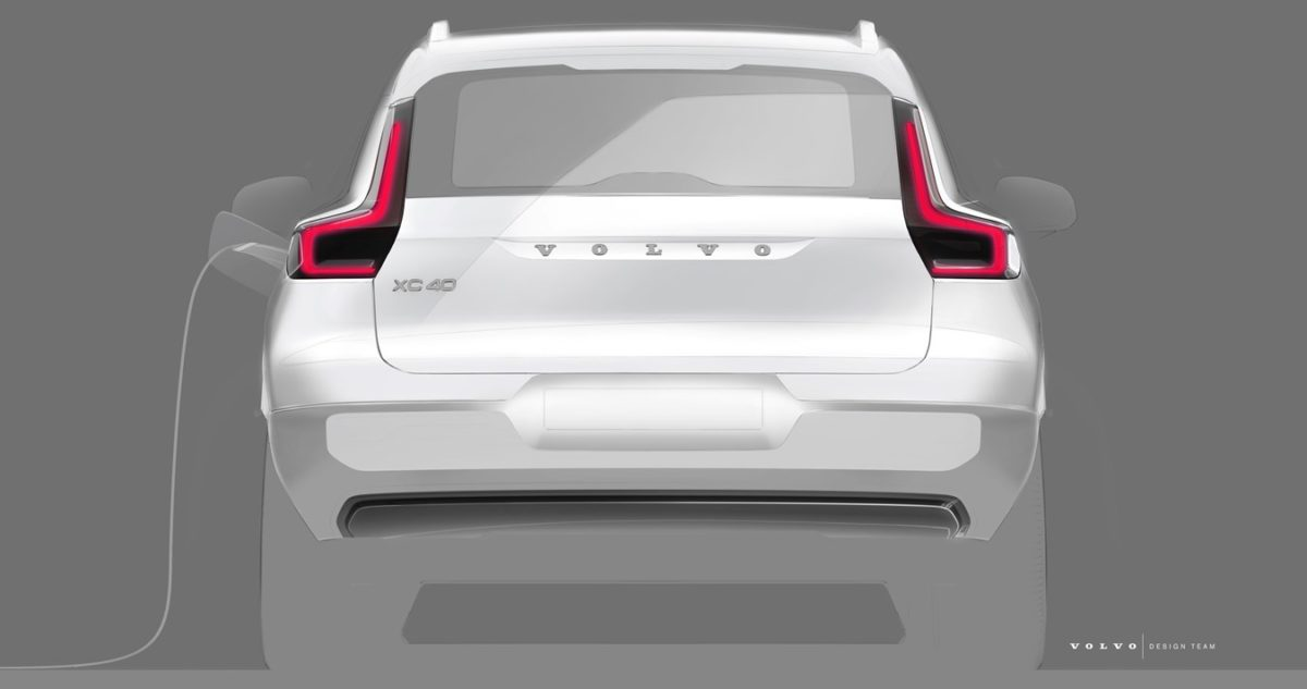 All electric Volvo XC40 rear