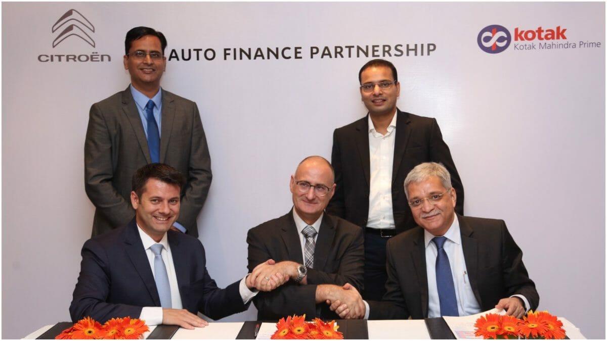 Citroen and Kotak partnership for finance