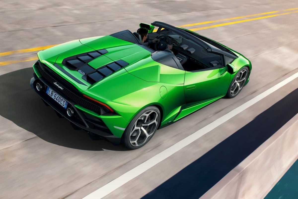 Lamborghini Huracan EVO Spyder rear top right