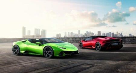 Lamborghini Huracan EVO Spyder red and green